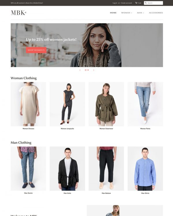 minimal fashion dropship website